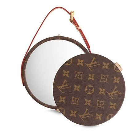 Louis Vuitton 鏡 LOUIS VUITTON★MIROIR DORIAN モノグラム  ミラー brown(2)