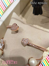 Kate spade★pave open hinge cuff★パヴェハートブレスレット