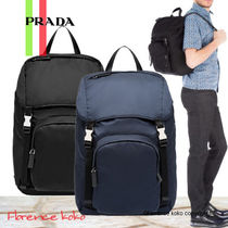 関税込み国内発送 PRADA☆Nylon+Saffiano Backpack 2VZ135