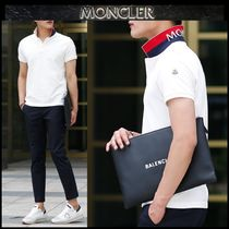 【MONCLER】18SS 配色 プリント ロゴポロシャツ WHITE/追跡付