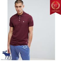 ◆Abercrombic&Fitch アバクロ Moose Icon slim Poloシャツ 赤