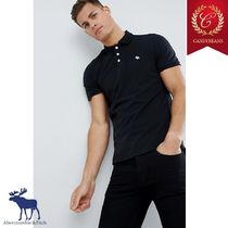 ◆Abercrombic&Fitch アバクロ Moose Icon slim Poloシャツ 黒