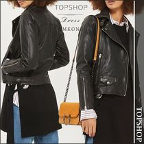 【国内発送・関税込】TOPSHOP★Lucky leather biker jacket