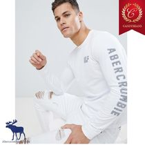 ◆Sale! Abercrombic&Fitch アバクロ Armロゴ 長袖 シャツ 白