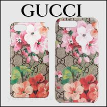 新作★GUCCIグッチ★GG Blooms iPhone7/8/Plusケース
