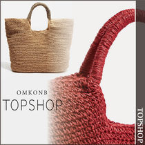 【国内発送・関税込】TOPSHOP★Brighty Straw Tote Bag