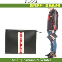 18AW新作,関税込★GUCCI(グッチ) ロゴクラッチバッグ