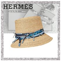 【直営買付】エルメス【Chapeau Romy】N.raffia/Sea,Surf & Fun