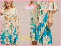 最安値保証*関税送料込【Anthro】Farm Rio Sunset Wrap Dress