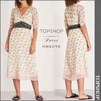 【国内発送・関税込】TOPSHOP★Floral-print chiffon dress