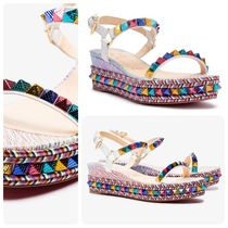 Christian Louboutin Multicoloured Pyraclou 60 Leather Sandal