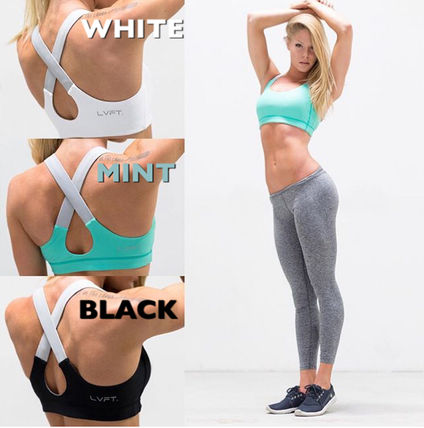 Live Fit フィットネストップス 【送料込】LIVE FIT LVFT Performance Bra-  BLACK/WHITE/MINT