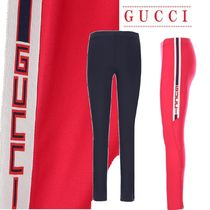 【GUCCI】Gucci ribbon nylon leggings☆