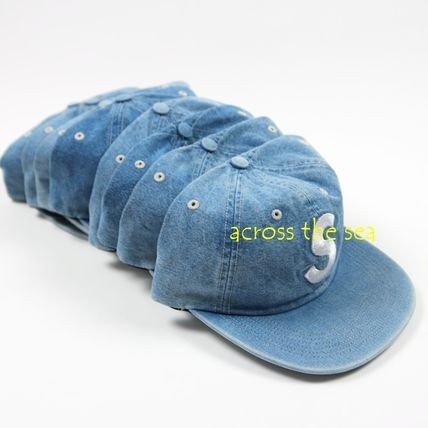 Supreme キャップ ★Supreme★Washed Chambray S Logo 6-Panel 18 SS WEEK 15(2)