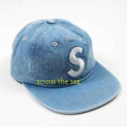 Supreme キャップ ★Supreme★Washed Chambray S Logo 6-Panel 18 SS WEEK 15(6)