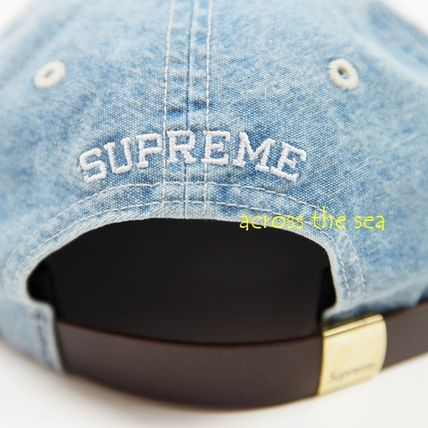 Supreme キャップ ★Supreme★Washed Chambray S Logo 6-Panel 18 SS WEEK 15(9)