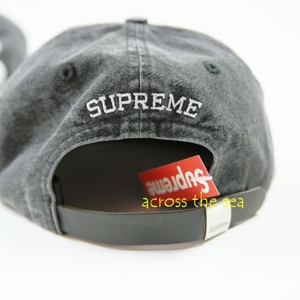Supreme キャップ ★Supreme★Washed Chambray S Logo 6-Panel 18 SS WEEK 15(10)