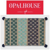 【OPALHOUSE】大人気●Blue Striped Woven Tasseled Accent Rug