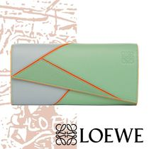 【LOEWE】18SS Puzzle Continental Wallet 緑 長財布 二つ折り♪