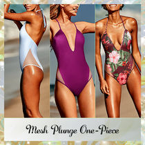 ★VS PINK★メッシュ入りワンピース水着☆Mesh Plunge One-Piece