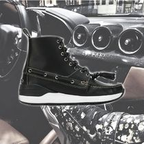 **GIVENCHY**2018SS loafer hi-top ハイカット BLACK sneakers