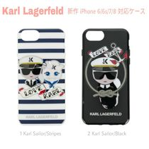 先取り★SAILOR【送込 KARL LAGERFELD】iPhone 6/7/8★ロゴ/猫