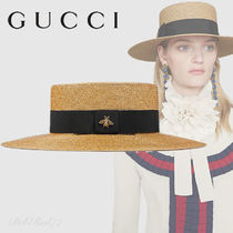PRE-FALL2018*GUCCI*グログランリボン付ルレックスパピエハット
