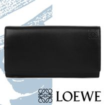 【LOEWE】18SS Continental Wallet フラップ 長財布 黒 二つ折り