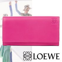 【LOEWE】18SS Continental Wallet フラップ 長財布 ピンク