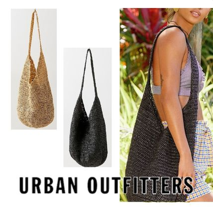"Urban Outfitters トートバッグ ""Urban Outfitters""夏素材 ストロートートSlouchy Straw Tote"