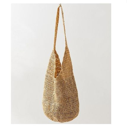 """Urban Outfitters トートバッグ """"Urban Outfitters""""夏素材 ストロートートSlouchy Straw Tote (2)"""
