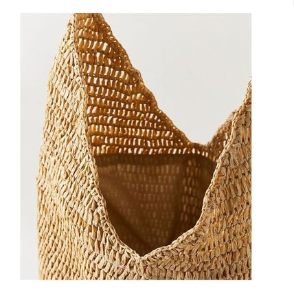 """Urban Outfitters トートバッグ """"Urban Outfitters""""夏素材 ストロートートSlouchy Straw Tote (3)"""