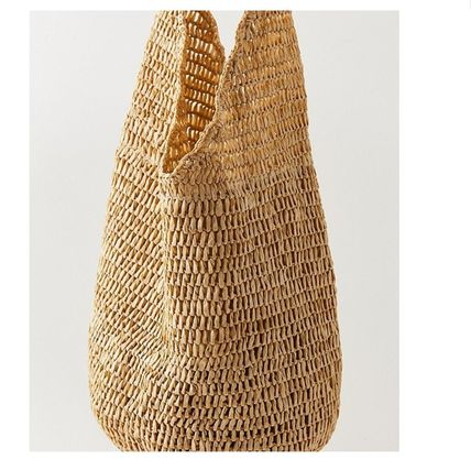 "Urban Outfitters トートバッグ ""Urban Outfitters""夏素材 ストロートートSlouchy Straw Tote (4)"