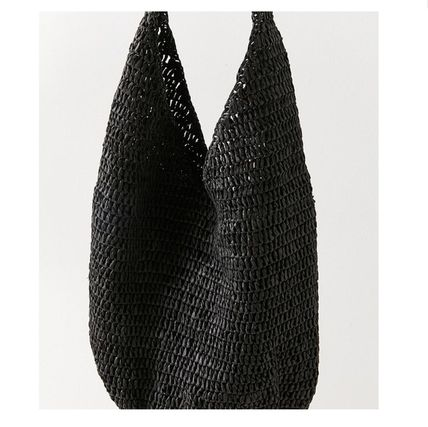 """Urban Outfitters トートバッグ """"Urban Outfitters""""夏素材 ストロートートSlouchy Straw Tote (9)"""