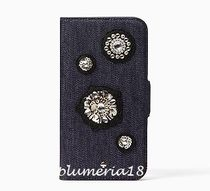 sale!kate spade new york-denim embellished folio iPhoneX