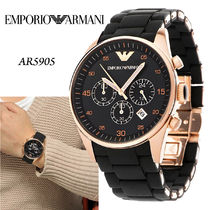 EMPORIO ARMANI   Black Silicon Stainless Steel Quartz 腕時計