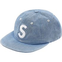 15 week SS18 Supreme Washed Chambray S Logo 6-Panel