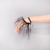 Ann Demeulemeester(アン ドゥムルメステール) ブレスレット ANN DEMEULEMEESTER BRACELET FEATHER BLACK RIBBON BLACK