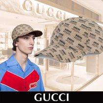 GUCCI stand print canvas baseball hat ロゴ 関税送料込み