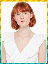 Kate spade★yours truly pave heart y necklaceダブルハート
