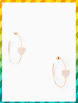 Kate spade☆YOURS TRULY PAVE HEART HOOPS★ハートピアス