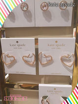 Kate spade☆PAVE HEART BYPASS HOOPSキラキラハートピアス