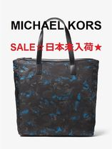 ◆SALE◆MK◆Kent Large Camouflage Nylon Tote *OCEAN*