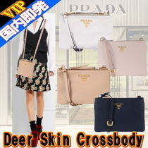 ◆◆VIP◆◆PRADA  Deer Skin Crossbody 2Way 2コンパートメント