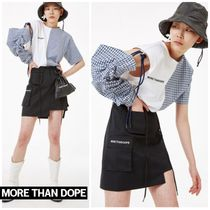 more than dope(モアザンドープ) スカート 新作★more than dope★Pocket skirt (black)