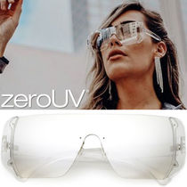全5色*zeroUV*RETRO FUTURISTIC OVERSIZE COLOR LENS SHIELD SUN