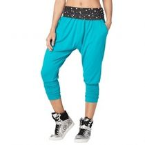 ★国内発送 ズンバ Zumba Dream Capri Harem Pants No Big Teal