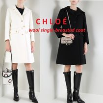 【CHLOE】single-breasted wool coatシングルウールコート