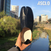 ◆男女共用◆ASCLO◆HANDMADE◆TABI LEATHER SHOES SLIIPERS