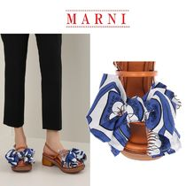 【MARNI】leather and fabric bow sandals☆関税・送料込み